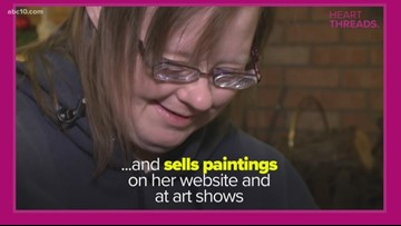 Heart Threads: Woman with Down syndrome uses painting as an outlet