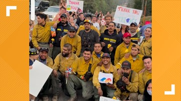 'The whole town just showed up' | Departing firefighters met with goodbye celebration after saving Tahoe