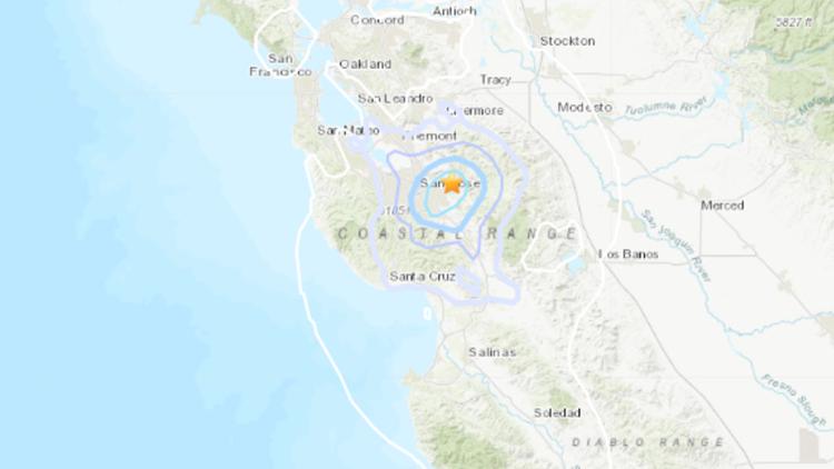 3.6 magnitude earthquake hits Bay Area near San Jose