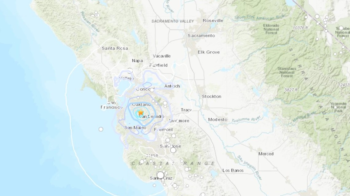 3.5 magnitude earthquake felt near San Leandro