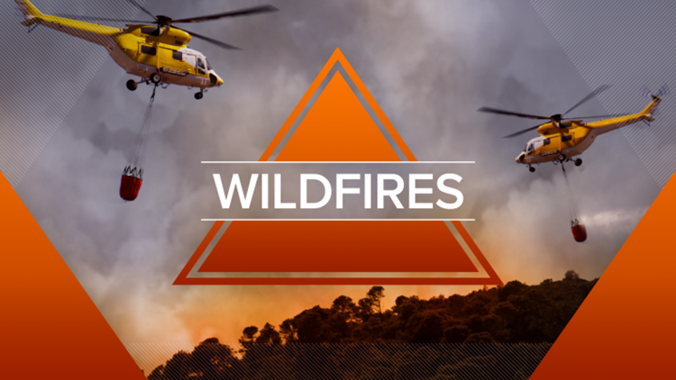 Where are fires burning in California?