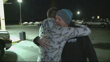 Mark S. Allen is hugging truckers at a truck stop because... National Hug Day