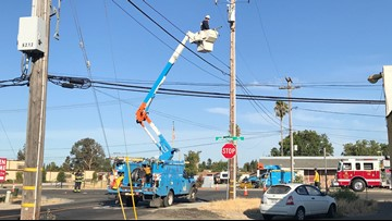 West Sacramento PG&E customers left in the dark for hours after garbage truck ran into loose power line