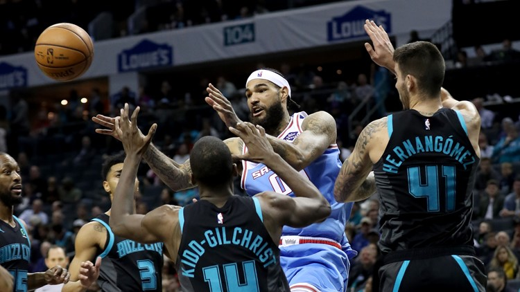 Kings stumble in Charlotte, lose to Hornets 114-95