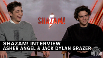 Jack Dylan Grazer and Asher Angel talk pranks on Shazam! | Extra Butter