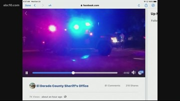 El Dorado County deputies shot at responding to call south of Placerville: Sheriff