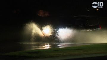 Rain floods streets in Sacramento | Raw