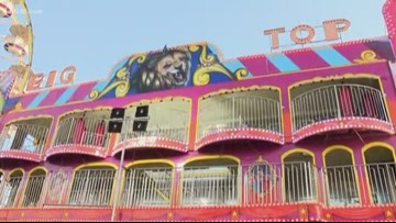 The fun house from season 3 of Stranger Things is at the California State Fair