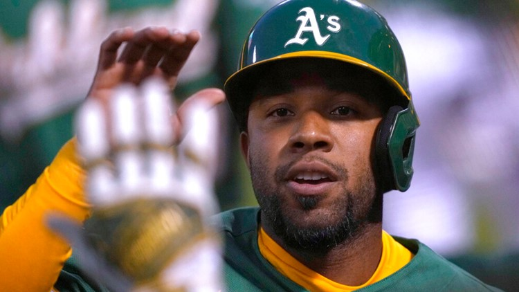 A's take lead on Upton's error, beat Ohtani and Angels 3-1