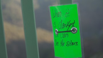 Notes of Hope | Why inspirational messages line Auburn's Foresthill Bridge