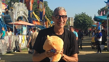 Actor Jeff Goldblum visits Stanislaus County Fair