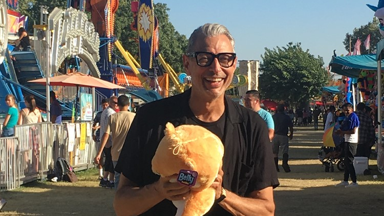 Actor Jeff Goldblum visits Stanislaus County Fair