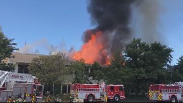 2-alarm fire destroys roof of Freeport Blvd. business complex, arson investigators working to determine cause
