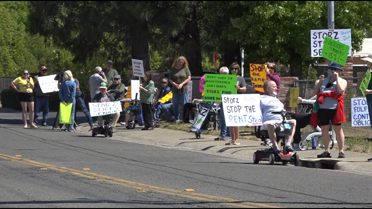 Orangevale mobile home park residents protest rent increases