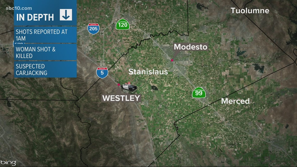 Woman killed during attempted carjacking in Stanislaus County