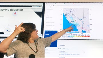 Southern California earthquake maps and road closures   Update