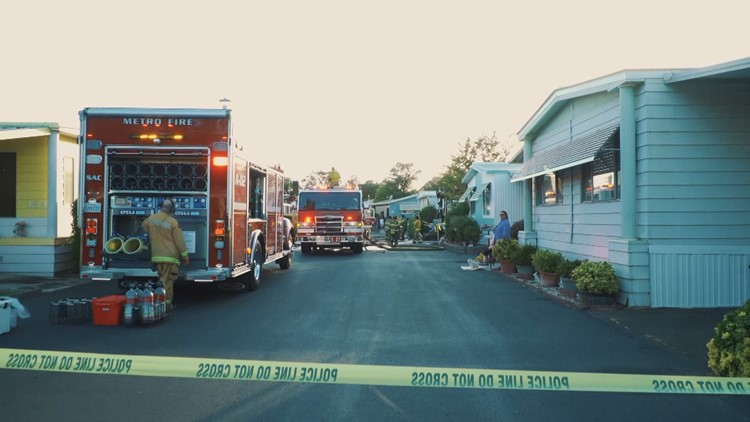 1 dead after fire at Citrus Heights mobile home park, officials say