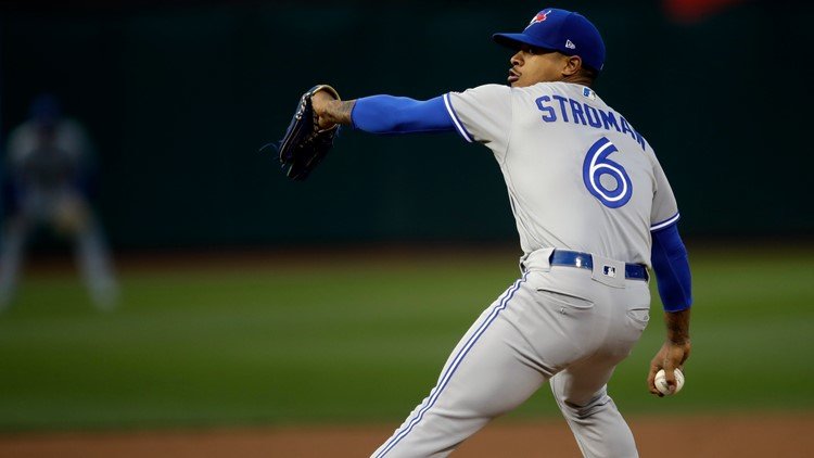 Toronto's Stroman shuts down Athletics for first win of year