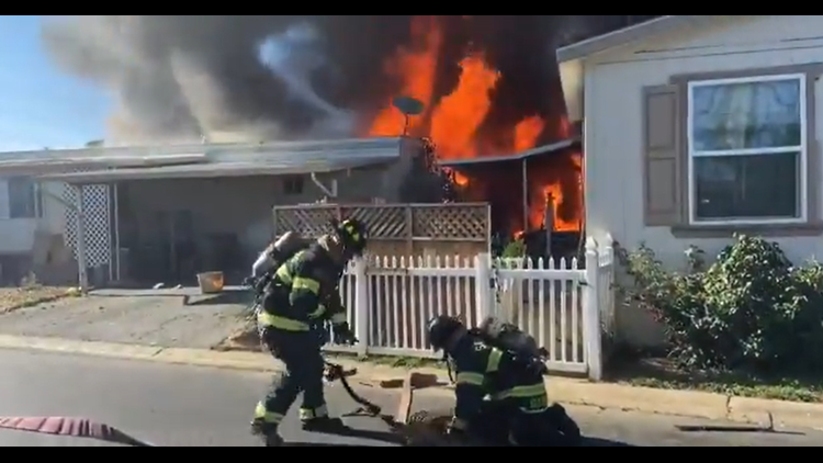 Fire damages 4 mobile homes in South Sacramento