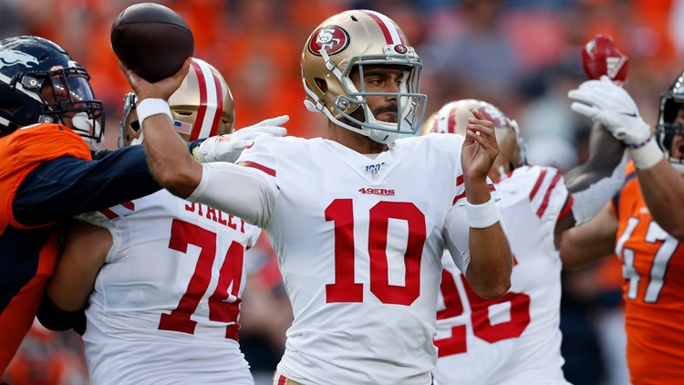 Jimmy Garappolo shaky in 49ers' 24-15 win over Broncos
