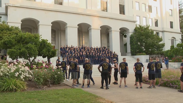 CHP cadets partake in ceremonial run to Capitol