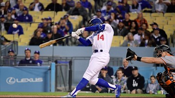 Dodgers rally in 7th for 5-3 victory over Giants