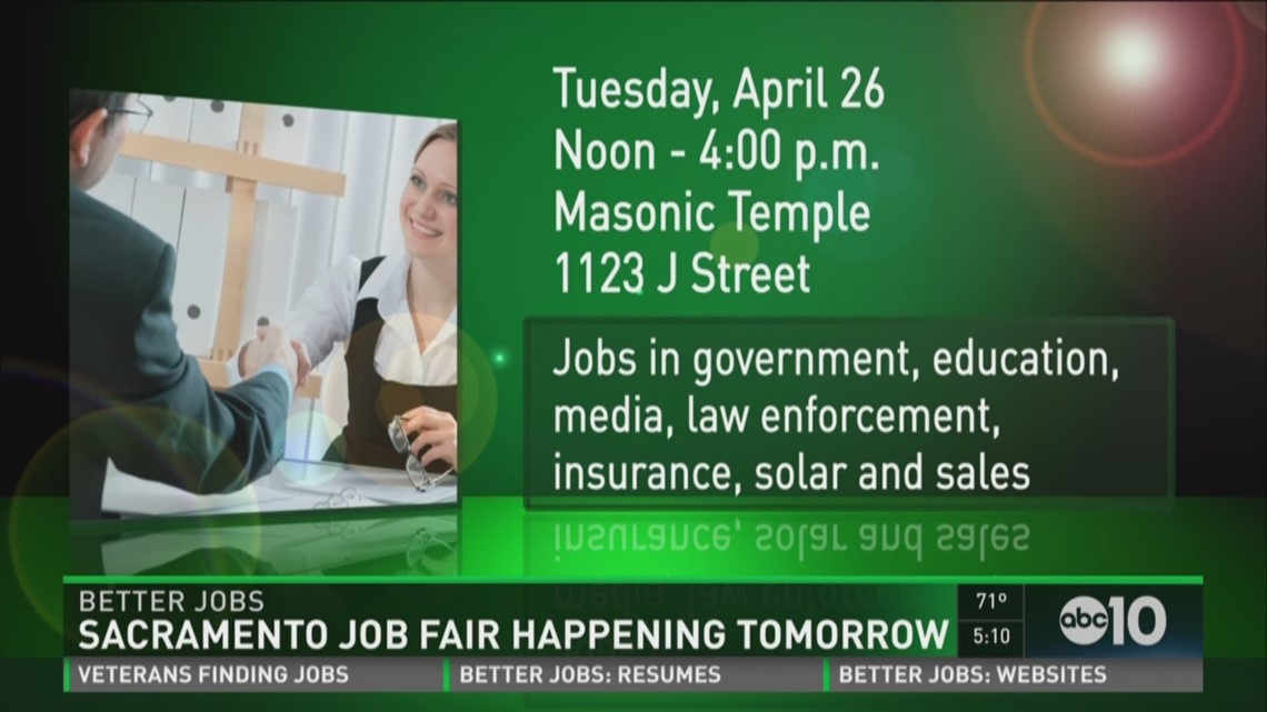 Sacramento Job Fair begins Tuesday