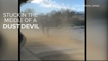 Caught in a dust devil, see how it happened   GEEK LAB