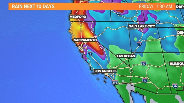 Northern California to get several storms over next week that could ease drought conditions