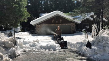 Father, son plowing snow from driveways of elderly Pollock Pines residents vulnerable to COVID-19