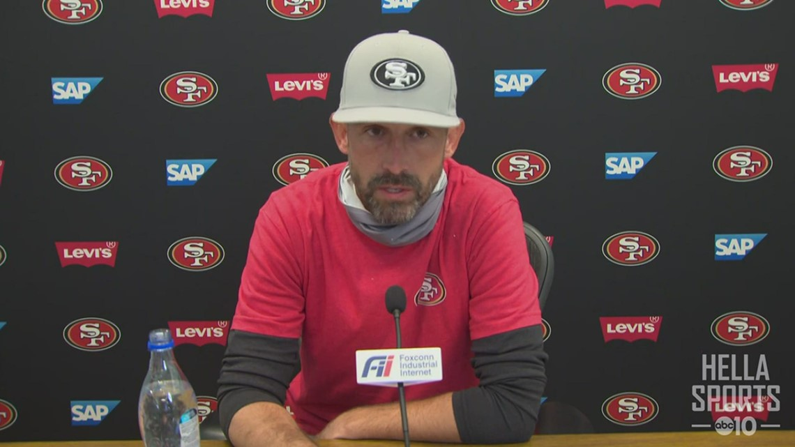 49ers coach Kyle Shanahan on Jimmy Garoppolo's status for Sunday, his $100,000 NFL fine for not wearing a mask