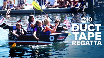 Sailors in duct tape regatta  paddle for glory in annual competition
