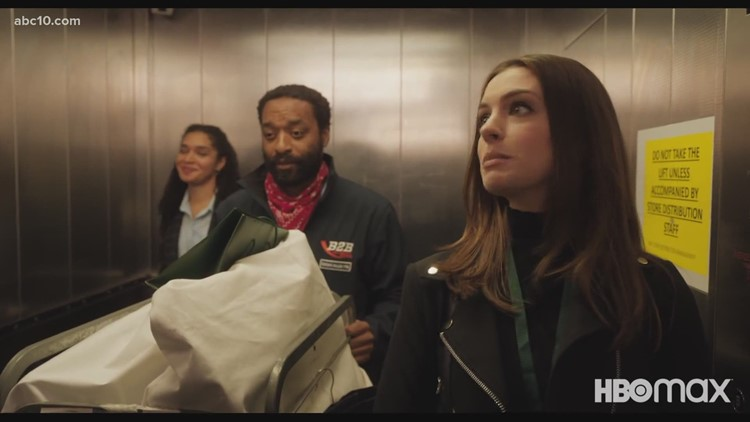 Anne Hathaway & Chiwetel Ejiofor talk about new movie 'Locked Down'