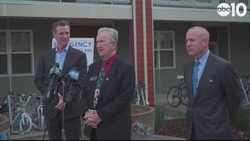 Gavin Newsom and Darrell Steinberg introduce plan to house 100 homeless in 100 days