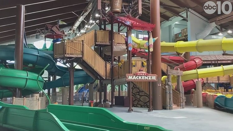 Behind the scenes look at the Great Wolf Lodge in Manteca