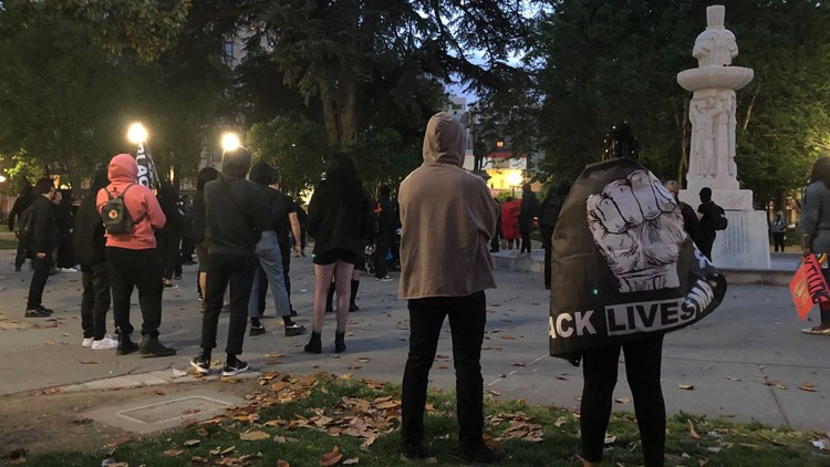 Police declare unlawful assembly as demonstrators march in downtown Sacramento