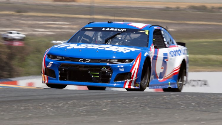 Elk Grove native Kyle Larson wins at Sonoma as Hendrick continues month of dominance