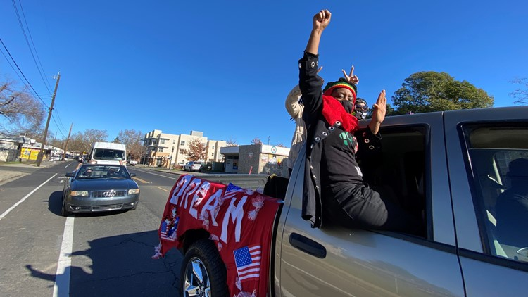 Civil Rights groups caravan through Sacramento in honor of MLK Jr. Day