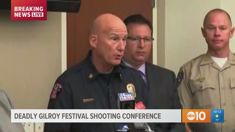 Gilroy Police Department give update on festival shooting that killed 3