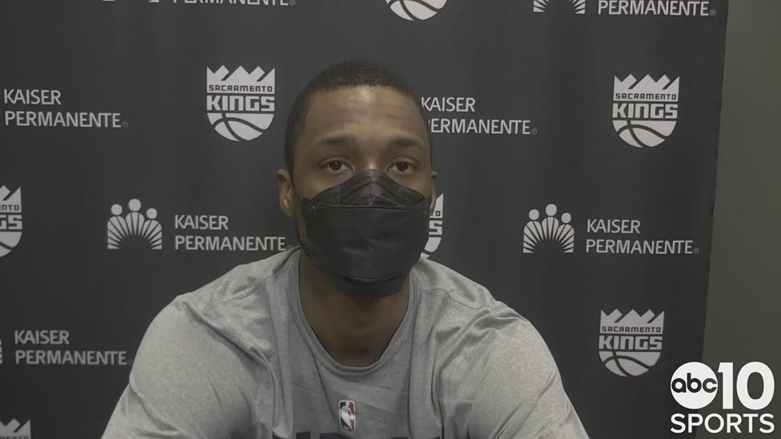 Harrison Barnes on his Sacramento Kings heading into the All-Star break with a loss in Portland