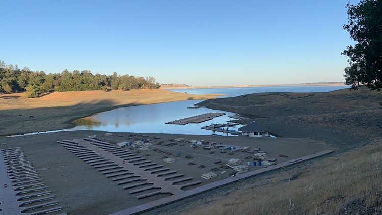 Water levels in Folsom Lake heading into the Memorial Day weekend
