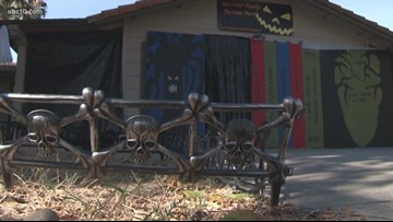 Stockton family gives back to community in an unusual way on Halloween