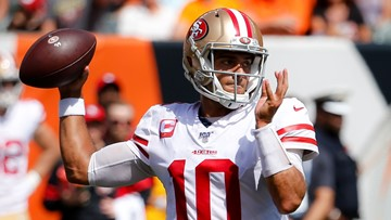 Garoppolo throws 3 TDs, 49ers roll over Bengals 41-17