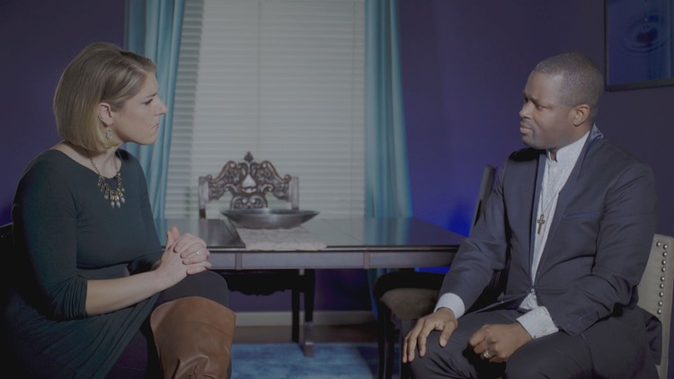 ABC10 journalist Becca Habegger talks with Rev. Kevin Kitrell Ross