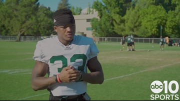 RB Elijah Dotson previews Sac State football season, gives impressions of new head coach