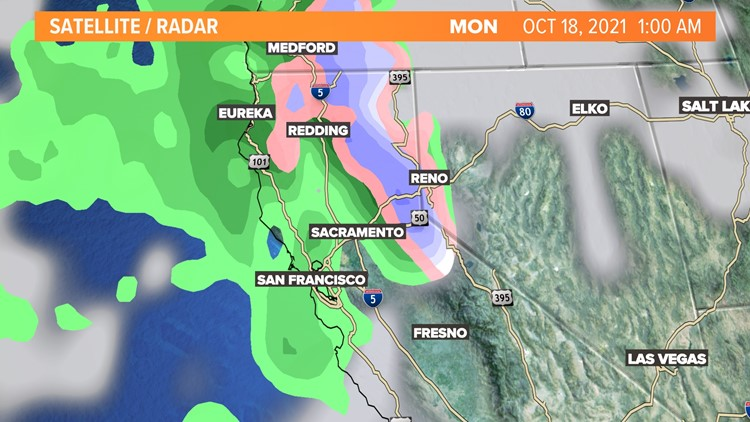 End of weekend storm will bring rain, snow to Northern California