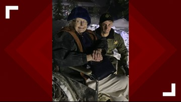 Deputy clears knee-high snow to get woman out of freezing home
