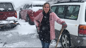 'If you don't smile, you cry': Soda Springs residents react to spring snow