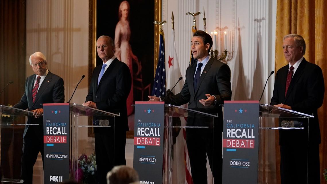 California Republicans clash in 1st debate in Newsom recall