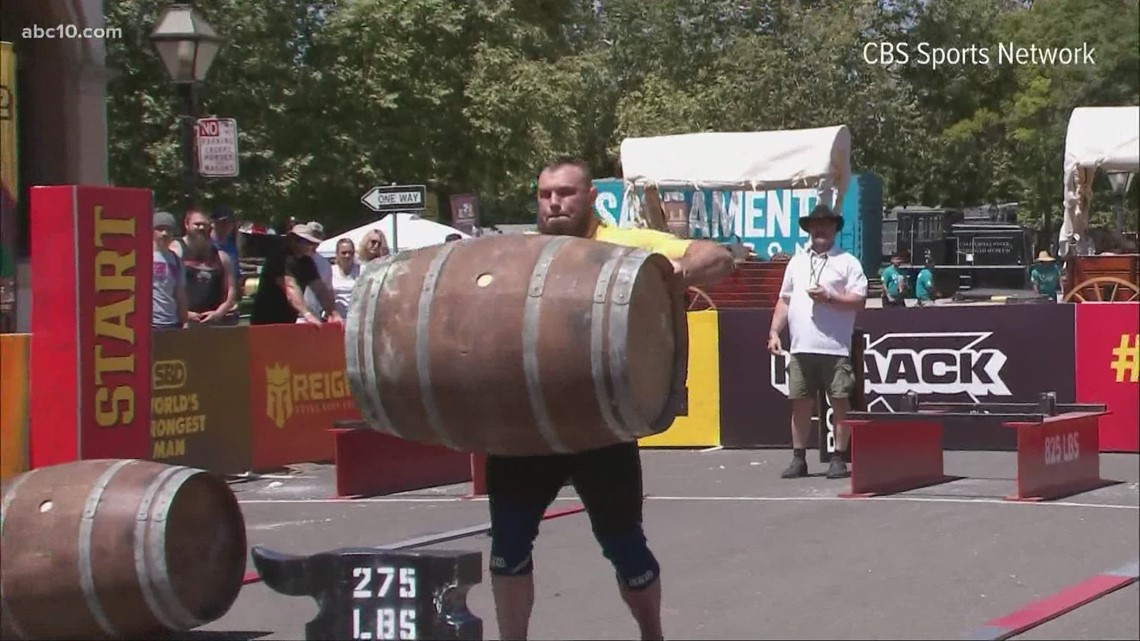 World's Strongest Man competition pushes through hot weather in Sacramento